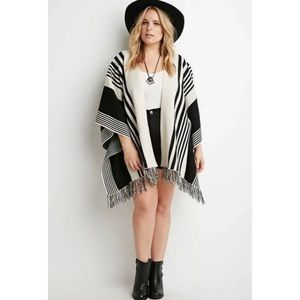 Forever 21 Fringed Cape/Poncho